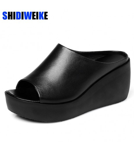 2019 Hot Sale Women Summer Fashion Leisure shoes women platform wedges Fish Mouth Sandals Thick Bottom Slippers M307