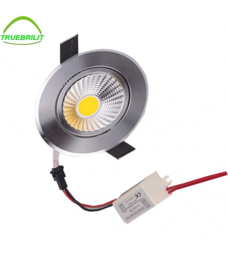 LED COB Downlights Dimmable 3W Recessed Ceiling Led Down Light Led Spot Light 55mm cut size