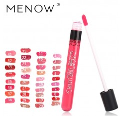 Menow Brand 38Color Lipgloss  Matte Long Lasting Moisturizer Sexy Lip Gloss Waterproof Beauty Liquid Lipstick Cosmetic 1415