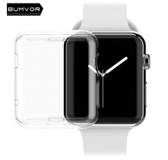 Silicone TPU Soft Protective Case Shell Frame For iwatch Apple Watch Series 3/2/1 38mm/42mm Screen Protector Cover Protection