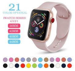Sports silicone Band For Apple watch Series 4/3/2/1Replace Bracelet Strap watchband Watchstrap for apple watch 42mm 38mm MU SEN