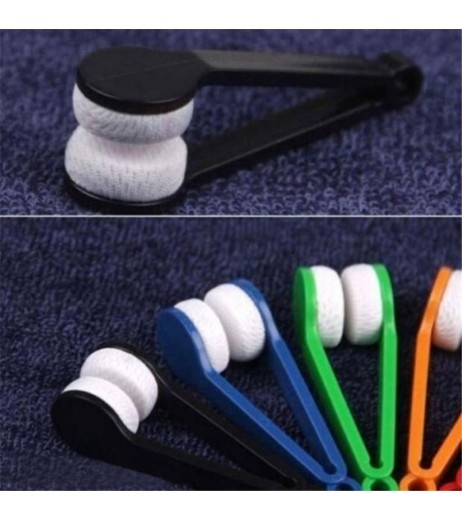 cycling Sun Glasses Eyeglass Microfiber Spectacles Cleaner Brush Cleaning Tool LWr free shipping #2A23