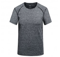 summer new casual t shirt men's round neck quick-drying breathable t shirt men's stretch fitness t-shirt plus size L~5XL 6XL