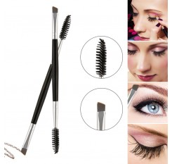 1 Pcs Eyelash Eyebrow Brush Double Head Brush Eyelash Eyebrow Cosmetics Beauty Tools Professional  Beveled Spiral Brush
