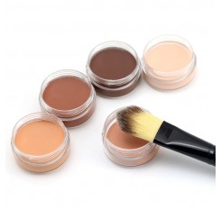 1 Pcs Professional Face Makeup Foundation Basic Contour Cream Concealer Highlighter Compact Corrector Bronzer Maquiagem Popfeel