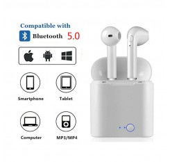 1 pair i7s tws Mini Bluetooth Earphone Wireless Earphones With Charge Box with mic For iphone for huawei for all smart phone