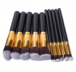 10 PCS Silver/Golden Makeup Brushes Set pincel maquiagem Cosmetics Women Makeup Tool Powder Eyeshadow Brush Cosmetic Set New