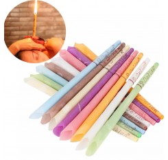 10 Pcs/5 Pairs Aromatherapy Ear Candle Wax Hollow Cone Shape Ear Cleaning Healthy Relaxing Beeswax Remove Dirt Ear Candles