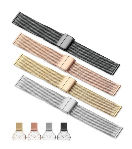 12/14/16/20mm Watch Strap Metal Magnetic Mesh Stainless Steel Wristwatch Band Quick Release Watch Band for DW Watch Strap