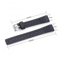 16mm 18mm 20mm Bracelet Silicone Rubber Bands For casio Wristwatches EF Replace Electronic Wrist Watch Band Watch sports Straps