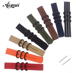 18mm 20mm 22mm 24mm Male Nato Nylon Watch Strap Military sport Army Watchband accessories Bracelet Multiple Colors for Men Women
