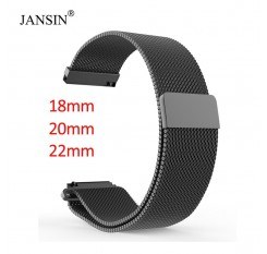 18mm 20mm 22mm Universal Milanes loop strap watchbands Smart Watch Metal Strap Stainless Steel watch Band men & women watches
