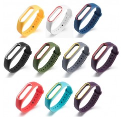 2 Colors Silicon Wrist Strap WristBand Bracelet Replacement For Xiaomi MI Band 2