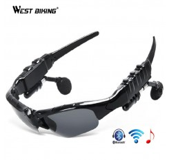 2017 Bluetooth Cycling Glasses Outdoor Sports Eyewear Polarized Motorcycle Sunglasses MP3 Phone Bicycle Bluetooth Stereo Glasses