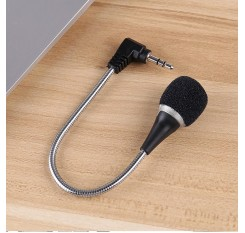 2017 Good Sale 3.5mm Flexible Mini Microphone Mic for Laptop Notebook PC Podcast Skype Chat J21