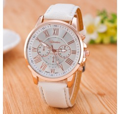 2017 MEIBO Brand Geneva Watches Women Men Casual Roman Numeral Watch For Men Women PU Leather Quartz Wrist Watch relogio Clock
