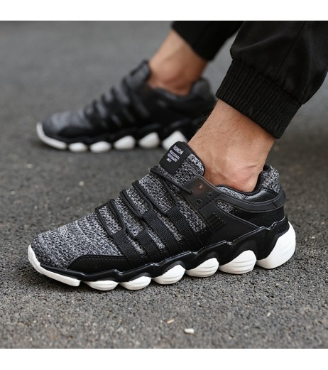 2018 Hot sale fashion Brand Men Casual Shoes Lace Up Comfortable Canvas Shoes For Male Black Gray White Plus Size 39-47