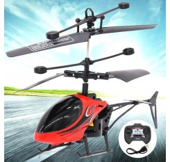 2018 New Remote Eletric Flying Helicopter Flashing Lights Hand Controlled Aircraft Outdoor Toys for Children Gifts