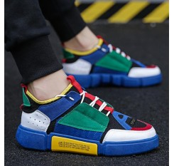 2018 New Spring Fashion Brand Leisure Shoe Men Classic  White Shoe Patchwork Lace Up Youth Male Casual Shoes