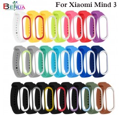 25 colors Sport Silicone watchband strap For Xiaomi Mi Band3 Smart Watch/Pedometer Wristband Bracelet Watchbands For Xiaomi Mi 3