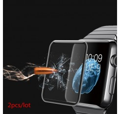 2Pcs/lot 3D Full Coverage Tempered Glass For Apple Watch Series 1 2 3 4 Protective Film Screen Protector iwatch 38 42 40 44 mm
