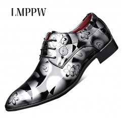 British Style Oxford Shoes for Men Dress Shoes Fashion Pointed Toe Business Wedding Shoes Brand Design Men Flats Big Size 38-48