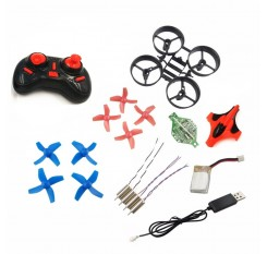DIY Mini Drone 2.4GHz RC Helicopter W/ 5.8G FPV Camera One Key Return Headless Quadcopter Propeller Motor Battery Receiver Board
