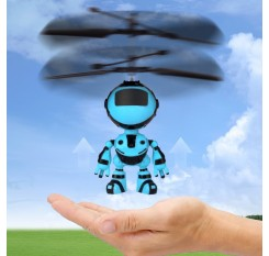 Electric RC Fly Robot Flying Ball Mini RC Infraed Induction Aircraft Quadcopter Remote Controller Flashing Light Toys For Kids