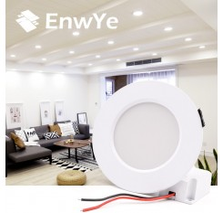 EnwYe LED Downlight Ceiling IC LED driver 9W 12W 15W Warm white/cold white led light AC 110V 220V