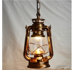 Europe Retro Classic Kerosene Antique Bronze Color Lantern Emergency Lamp Outdoor Camping Lamp Paraffin Lamp E27 Lamp Base Light