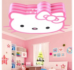 Fashion led cartoon ceiling lights lovely children's bedroom lamp Hello Kitty kindergarten lamps