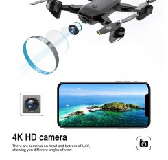 Global Drone 4K FPV Drones with Camera HD RC Helicopter Machines on the Control Panel Mini Drone Dron Quadrocopter VS E58 M70