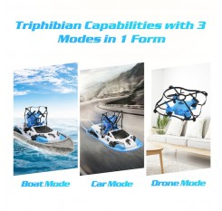 Global Drone RC Mini Drone Boat Car Triphibian Vehicle Helicopter Dron Quadrocopter Remote Control Toys for Boys Girls Nano Dron