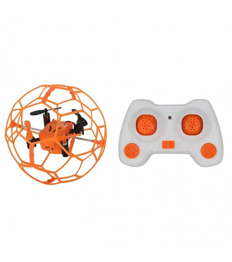 HeLicMax Mini Drone 1340 Flip RC Ball Sky Walker 2.4GHz 4CH Fly Ball RC Quadcopter 3D Flip Roller Headless Drone Helicopter Toys