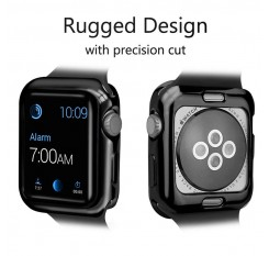 ZISIZ Plating Frame Protective Case Shell for Apple Watch Series 1 2 3 4 38MM 42MM 40MM 44MM Soft TPU Protector Cover Bumper
