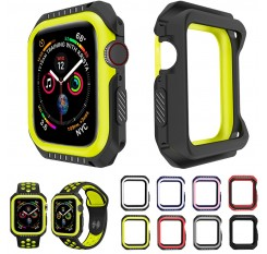 ZISIZ TPU+PC Watch Case for Apple Watch 38MM 42MM 40MM 44MM Cover Frame Full Protection Cases for iWatch 4 3 2 1