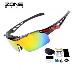 ZONEBIKE Polarized Sunglasses Cycling Glasses Bicycle Goggles Sports Eyewear Bike Equipment Men Women Gafas Ciclismo 5 Lens