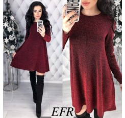 2019 New Women Spring A-line Dress Casual Lottery Color elegant Mini Party Dresses O-neck Long Sleeve Cute Vestidos Plus size
