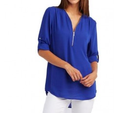 2019 Spring Fashion Chiffon V-neck Women Blouse Sleeveless  Shirts Floral Plus Size Top Casual Sexy Office Lady Blusas