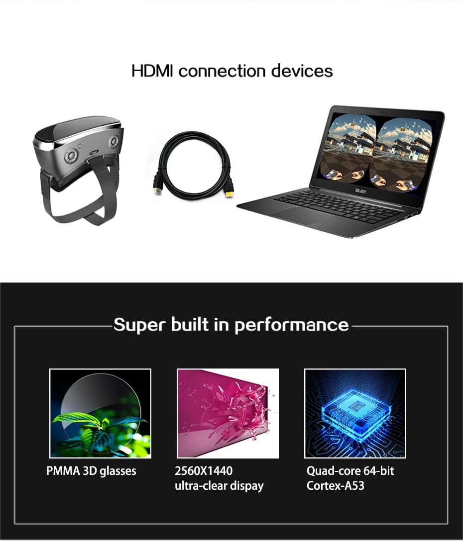 VR All In One Virtual PC Glasses Virtual Reality Goggles 3D